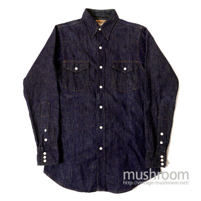 PENNEY'S RANCHCRAFT DENIM WESTERN SHIRT( MINT )