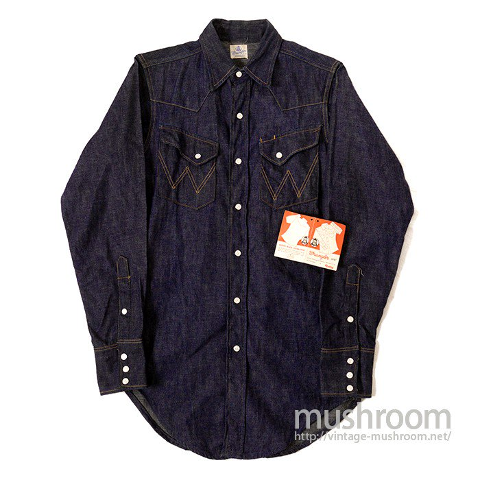 WRANGLER 27MW DENIM WESTERN SHIRT( NON-WASHED/MINT )