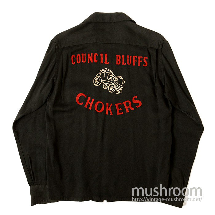 CUNCIL BLUFFS CHOKERS CAR CLUB L/S SHIRT