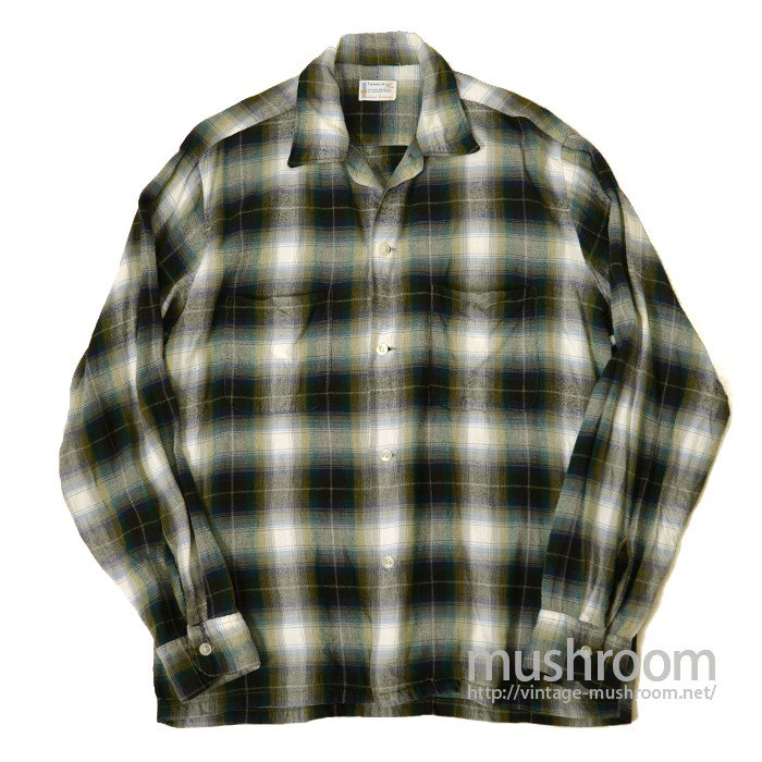 PENNEY'S TOWNCRAFT PLAID RAYON SHIRT