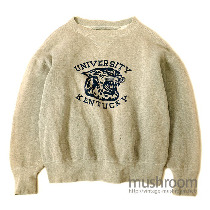 W/V COLLEGE FLOCK PRINT SWEAT SHIRT
