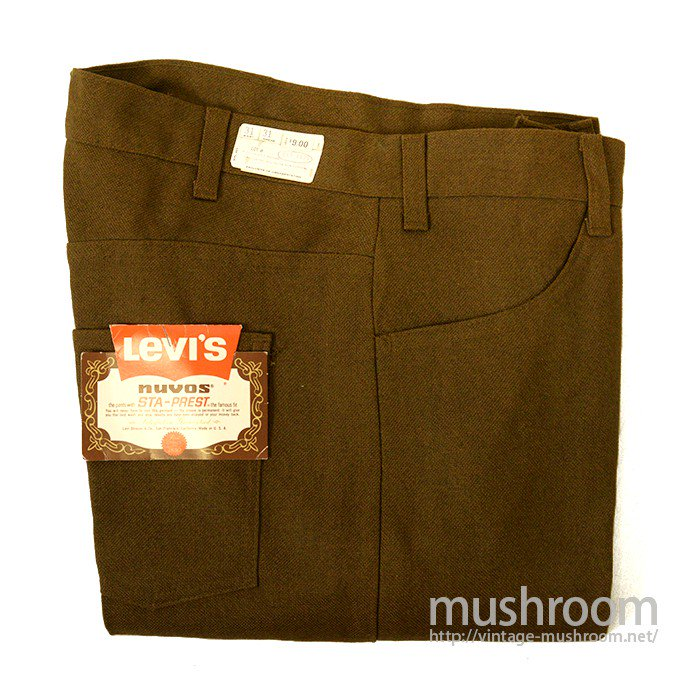 LEVI'S 645-4426 BIGE STA-PREST TAPERED PANTS( W31/DEADSTOCK )