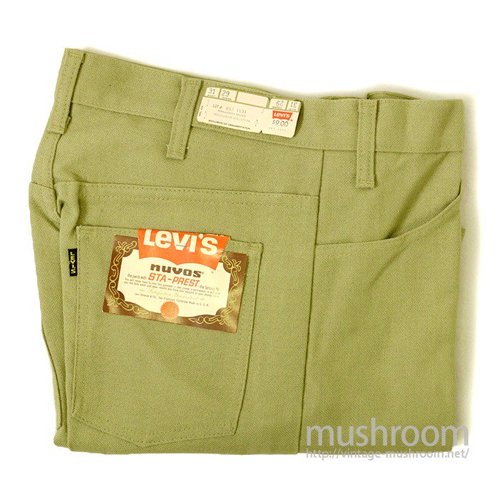LEVI'S 647-4431 BIGE STA-PREST TAPERED PANTS( W31/DEADSTOCK )