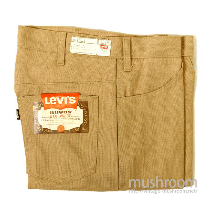 LEVI'S 647-4421 BIGE STA-PREST TAPERED PANTS( W32/DEADSTOCK )