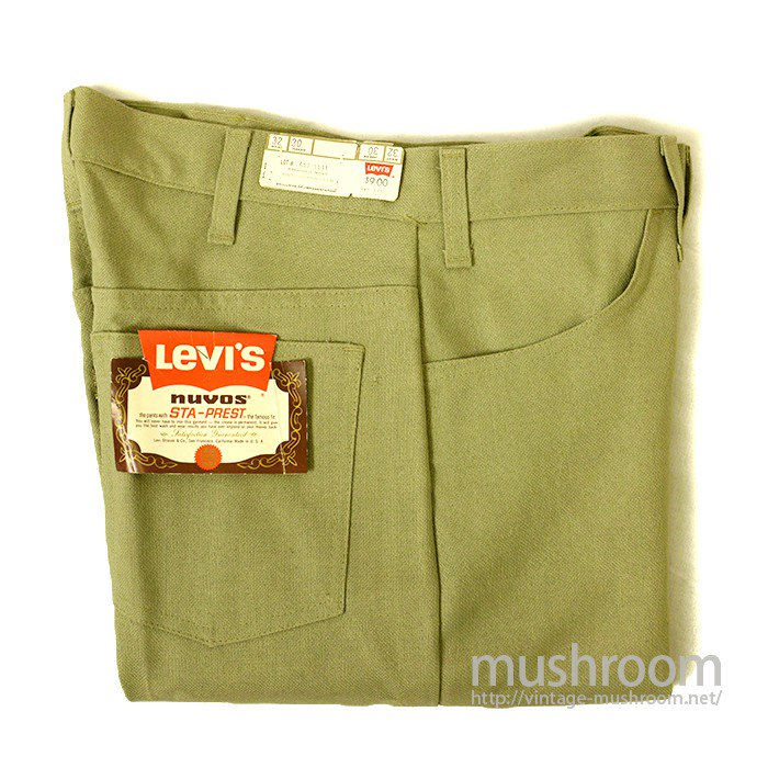 LEVI'S 647-4431 BIGE STA-PREST TAPERED PANTS( W32/DEADSTOCK )