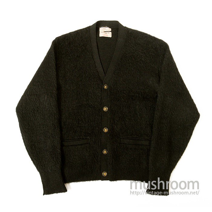 GLASGO BLACK MOHAIR CARDIGAN