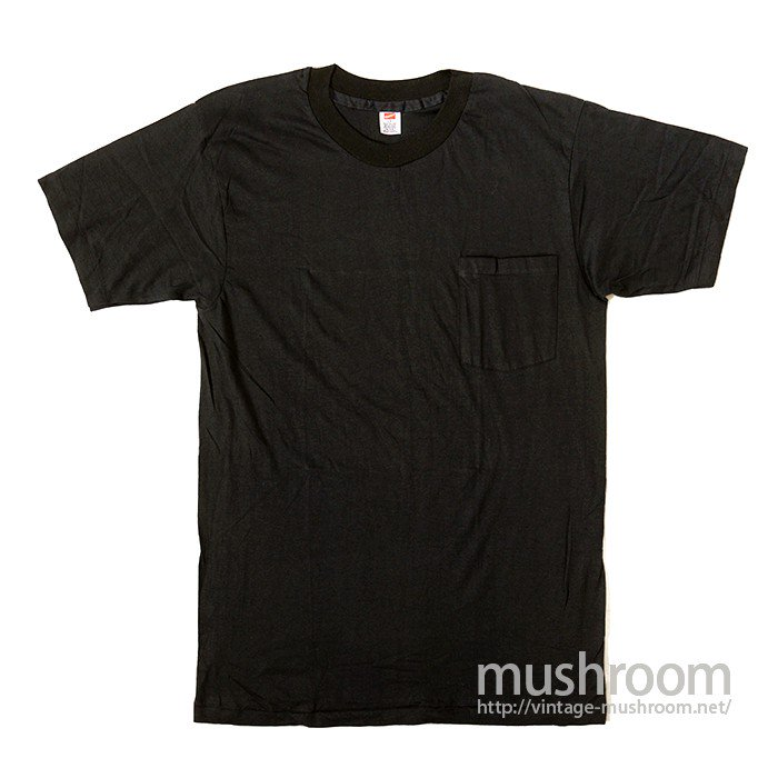 HANES PLAIN COTTON T-SHIRT WITH POCKET( DEADSTOCK )