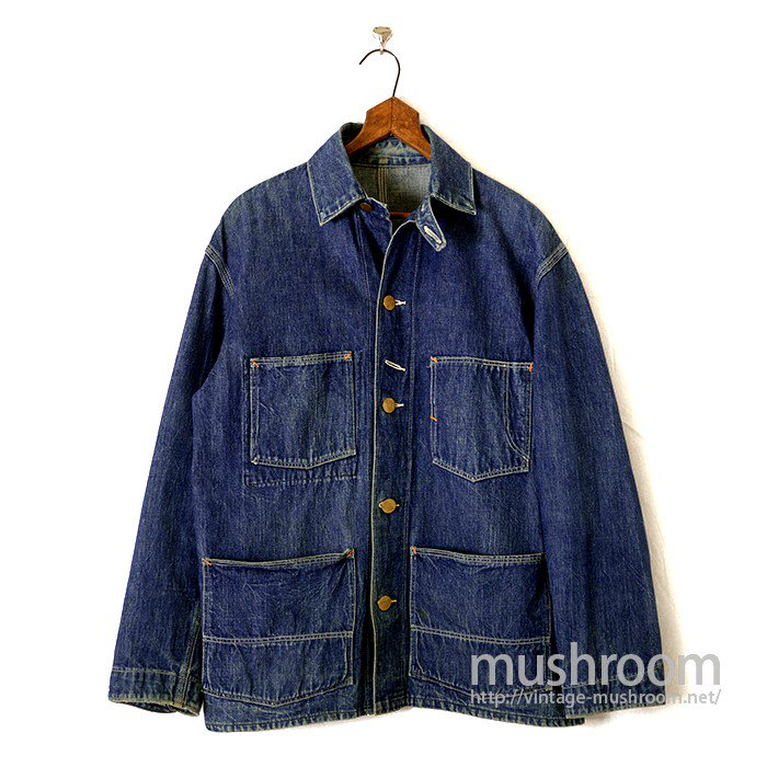 OLD RAILROAD DENIM COVERALL WITH CHINSTRAP