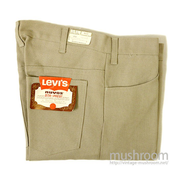 LEVI'S BIGE STA-PREST TAPERED PANTS( W33/DEADSTOCK )