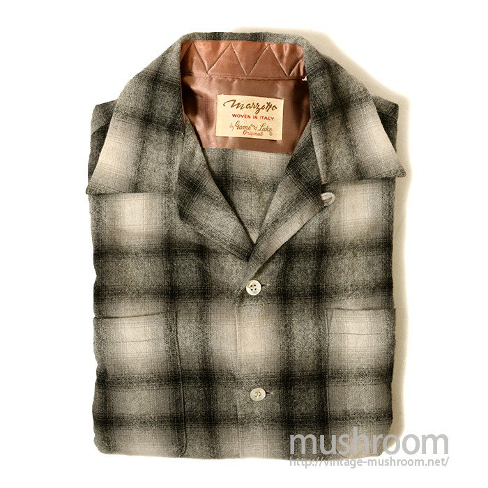 GAME AND LAKE PLAID BOX WOOL SHIRT( DEADSTOCK )