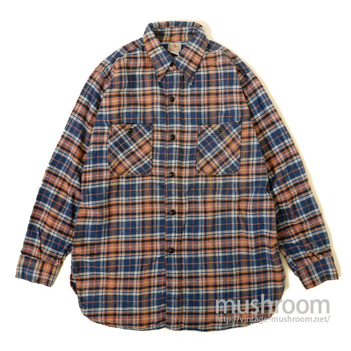 5BROTHER PLAID FLANNEL WORK SHIRT( UNUSED )
