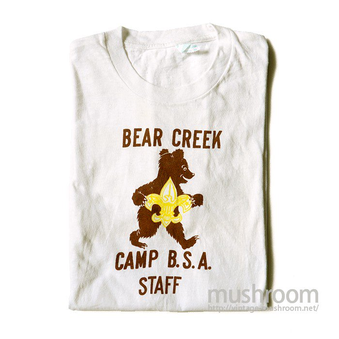 B.S.A CAMP STAFF T-SHIRT( ONE WASHED/UNUSED )