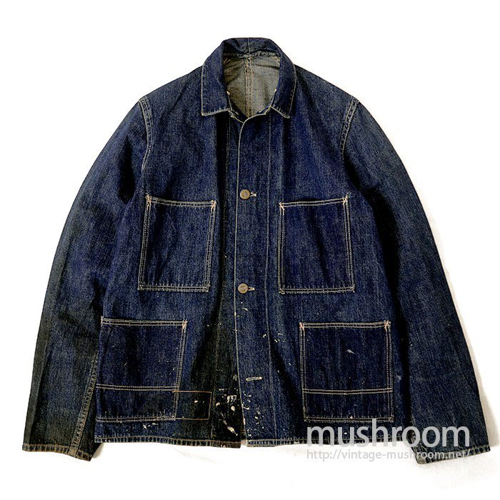 HOME SPUN FOUR-POCKET DENIM COVERALL