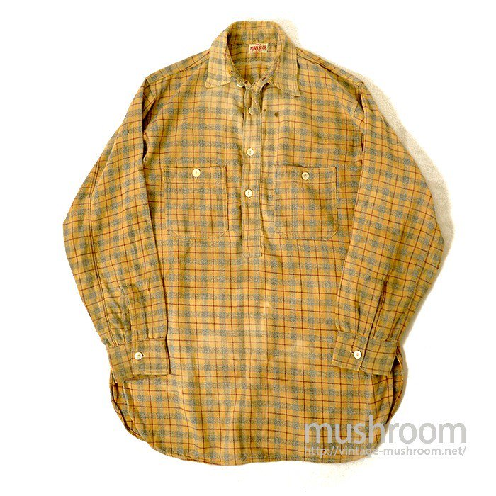 MAN SIZE PLAID FLANNEL WORK SHIRT WITH CHINSTRAP