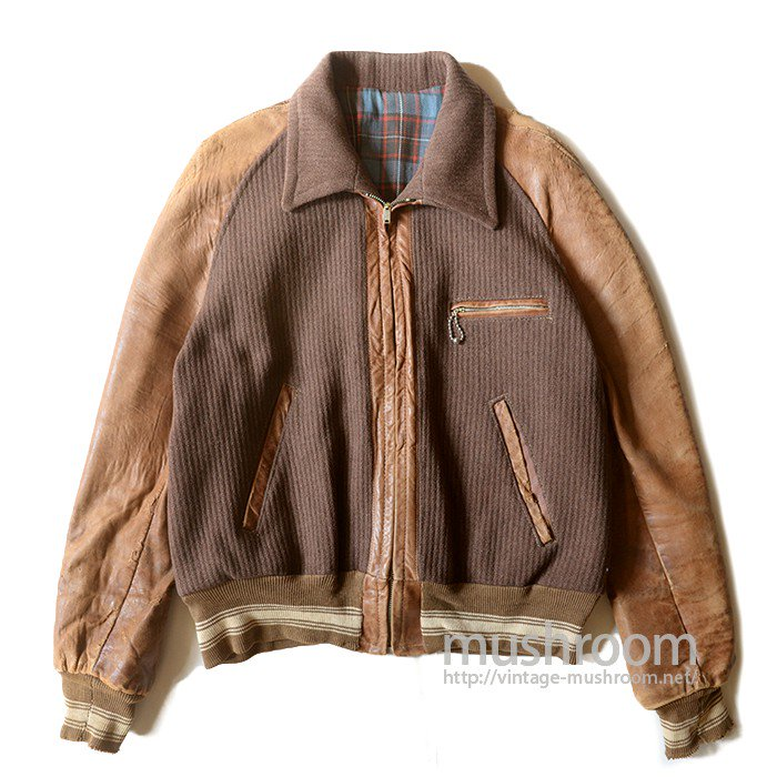 OLD WOOL & LEATHER SPORTS JACKET