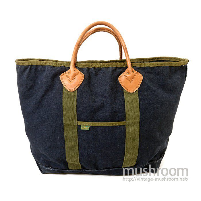 L.L.BEAN NAVY CANVAS TOTE BAG