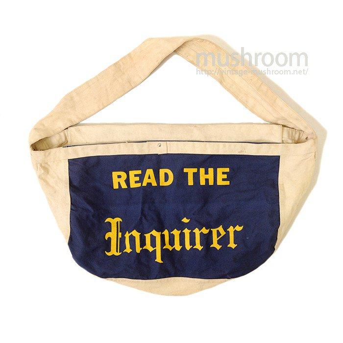 OLD CANVAS NEWSPAPER BAG