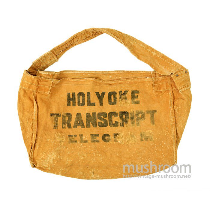OLD BROWN CANVAS NEWSPAPER BAG