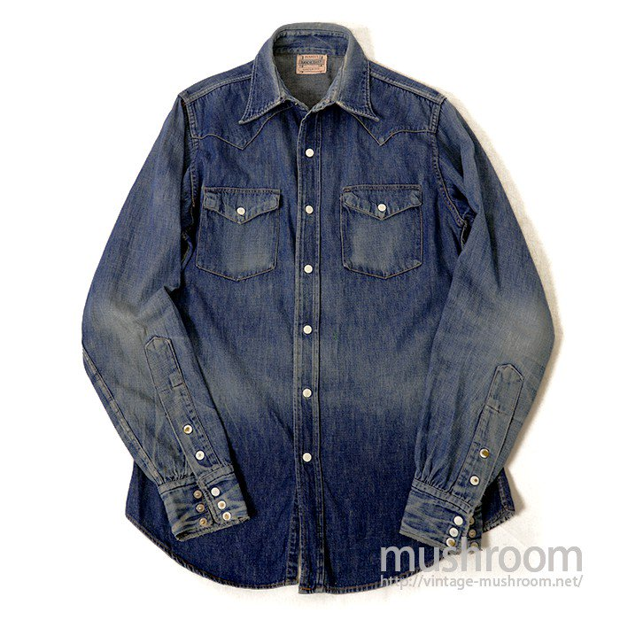 PENNEY'S RANCHCRAFT DENIM WESTERN SHIRT