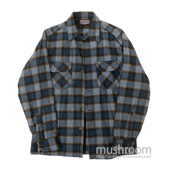 PENDLETON PLAID WOOL SHIRT( DEADSTOCK )