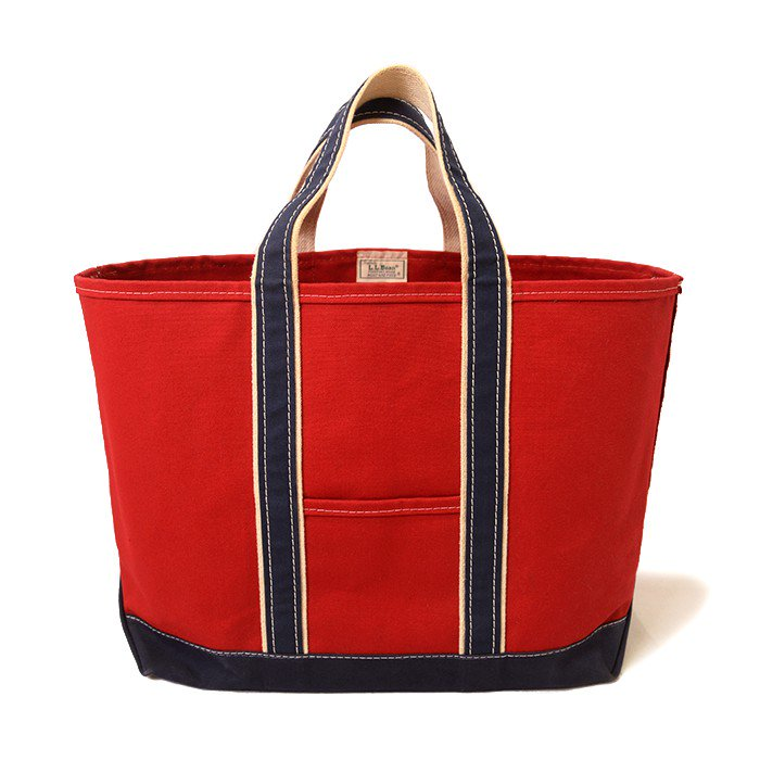 L.L.BEAN DELUXE TOTE BAG( RED/NAVY )