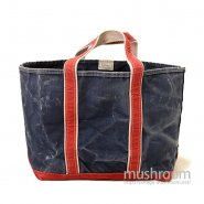 L.L.BEAN DELUXE TOTE BAG( NAVY/RED )