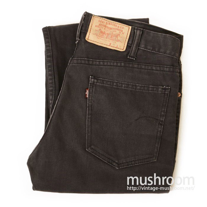 LEVI'S 5200 BLACK PIQUE TAPERED PANTS