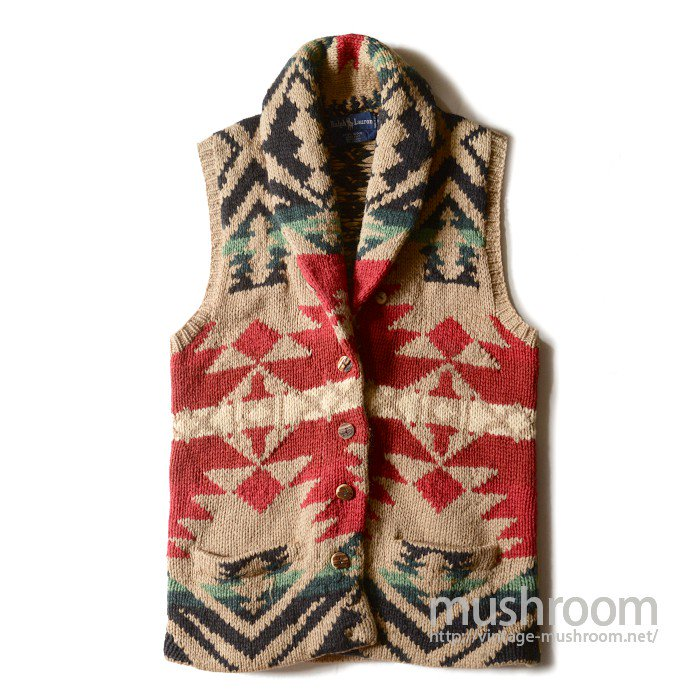 POLO RALPH LAUREN NATIVE HAND-KNIT VEST