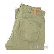 LEVI'S 911K BIGE TAPERED PIQUE PANTS