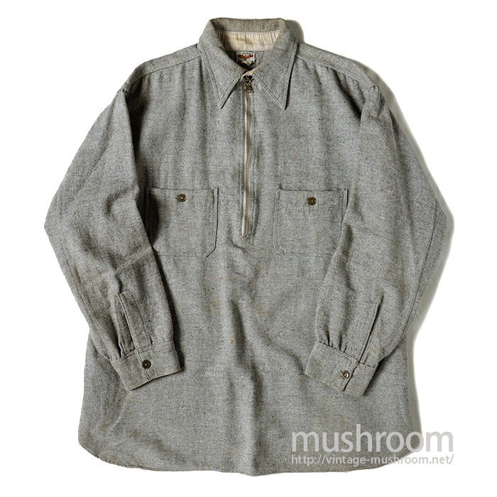 OLD HALF-ZIP WOOL WORK SHIRT
