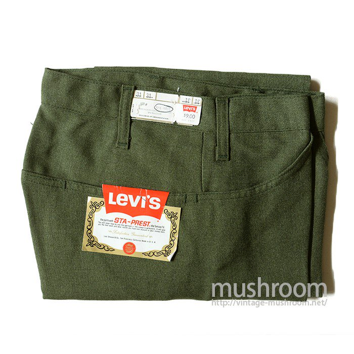 LEVI'S 516-9837 STA-PREST TAPERED PANTS( DEADSTOCK )