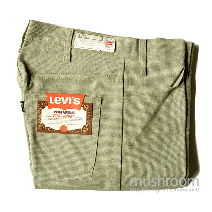 LEVI'S 647-4431 STA-PREST TAPERED PANTS( DEADSTOCK )