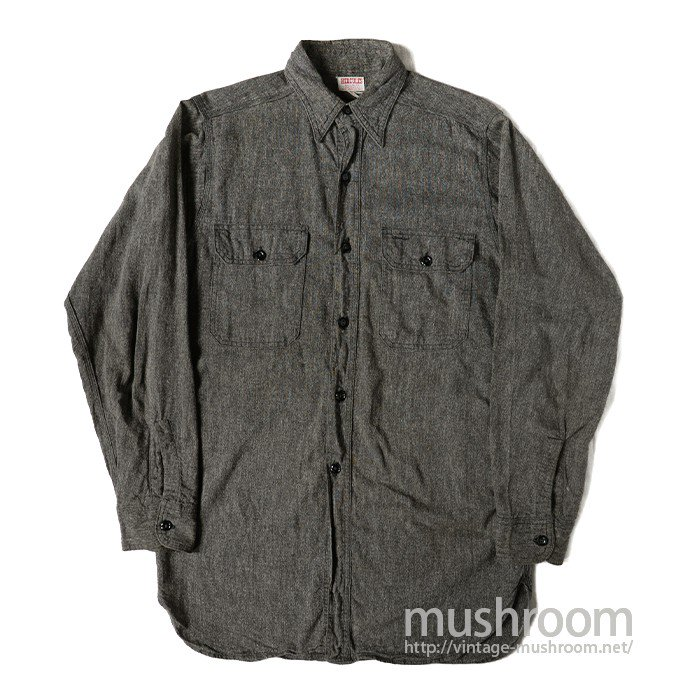HERCULES BLACK CHAMBRAY SHIRT