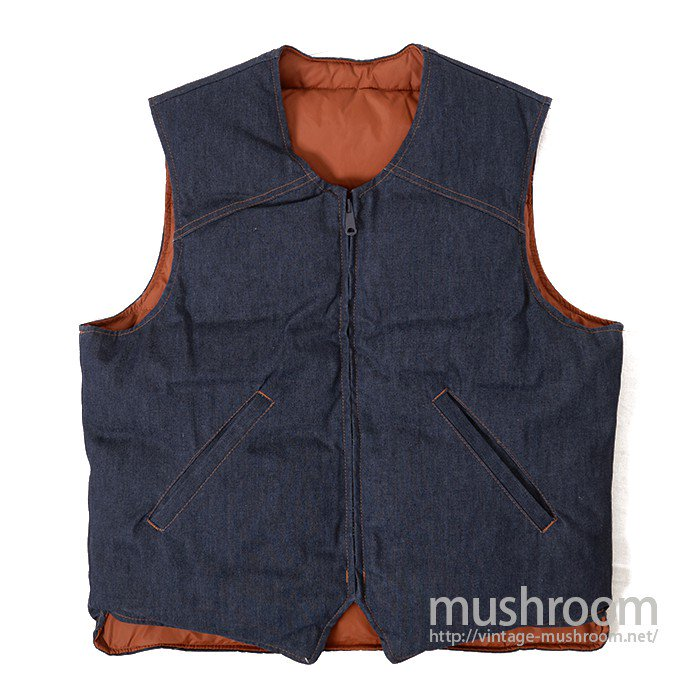 EDDIE BAUER REVERSIBLE DOWN VEST( MINT )