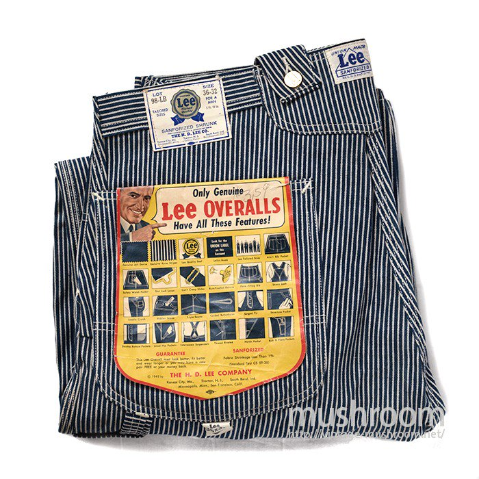 Lee 98-LB HICKORY STRIPE OVERALLS( DEADSTOCK )