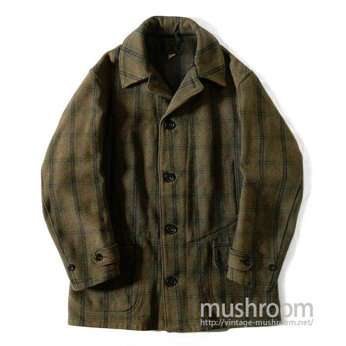 JOHN RICH BROS SINGLE BREASTED PLAID WOOL COAT