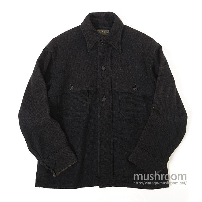 HIRSCH-WEIS BLACK WOOL JACKET