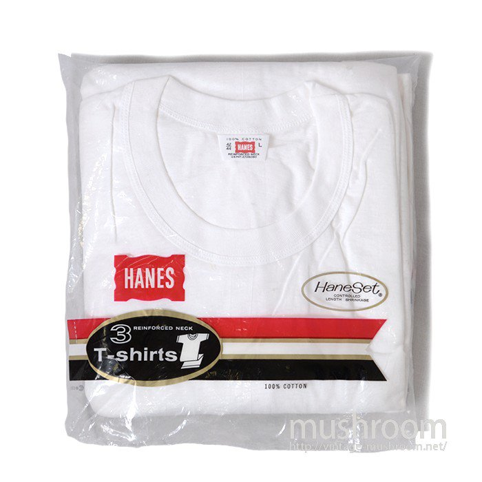 HANES PLAIN COTTON T-SHIRT( 3/DEADSTOCK )