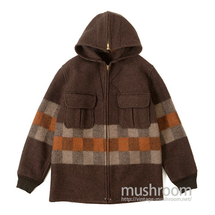 OLD WOOL JACKET WITH HOODY( MINT )
