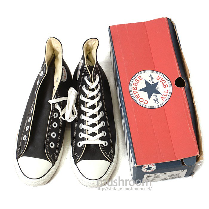 CONVERSE ALL-STAR HI BLACK LEATHER( DEADSTOCK )
