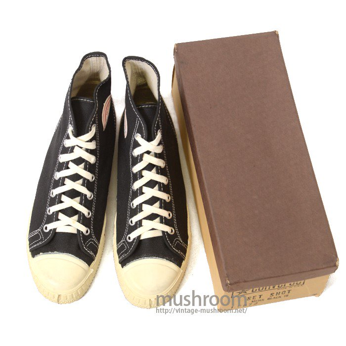 CONVERSE SET SHOT BLACK CANVAS SHOES( DEADSTOCK )