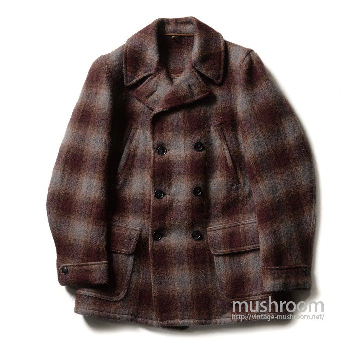 MONARCH DOUBLE-BREASTED PLAID WOOL COAT