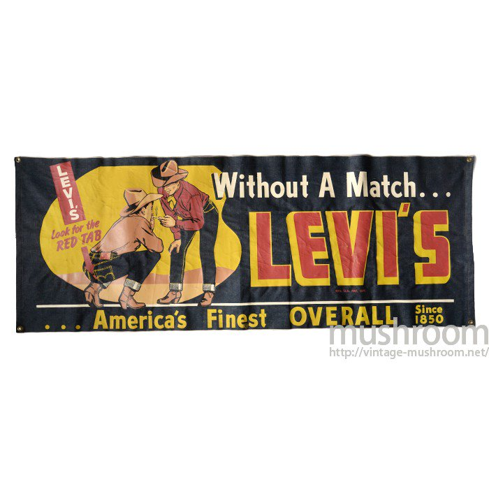 LEVI'S STORE DISPLAY DENIM BANNER( UNUSED )