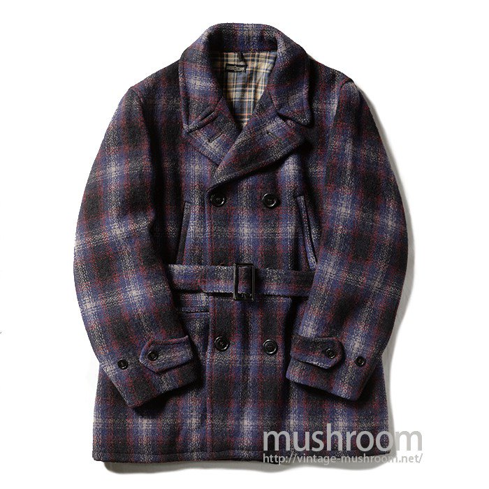 MW DOUBLE BREASTED PLAID WOOL COAT