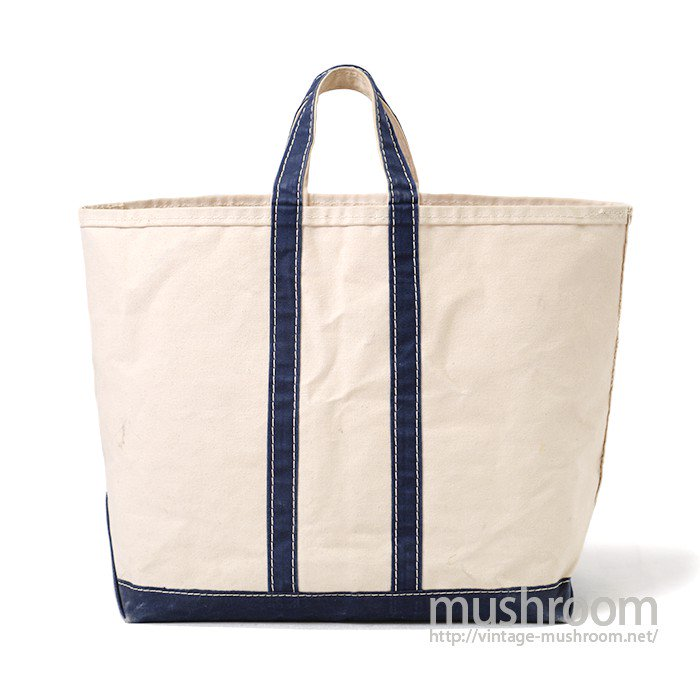 OLD CANVAS TOTE BAG( NATURAL AND NAVY)