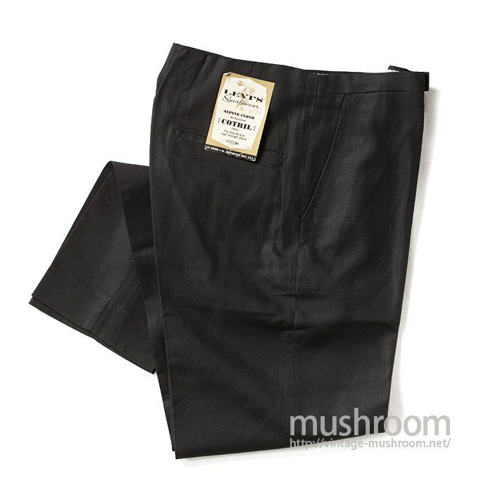 LEVI'S SPORTSWEAR BLACK TAPERED PANTS( W31/DEADSTOCK )