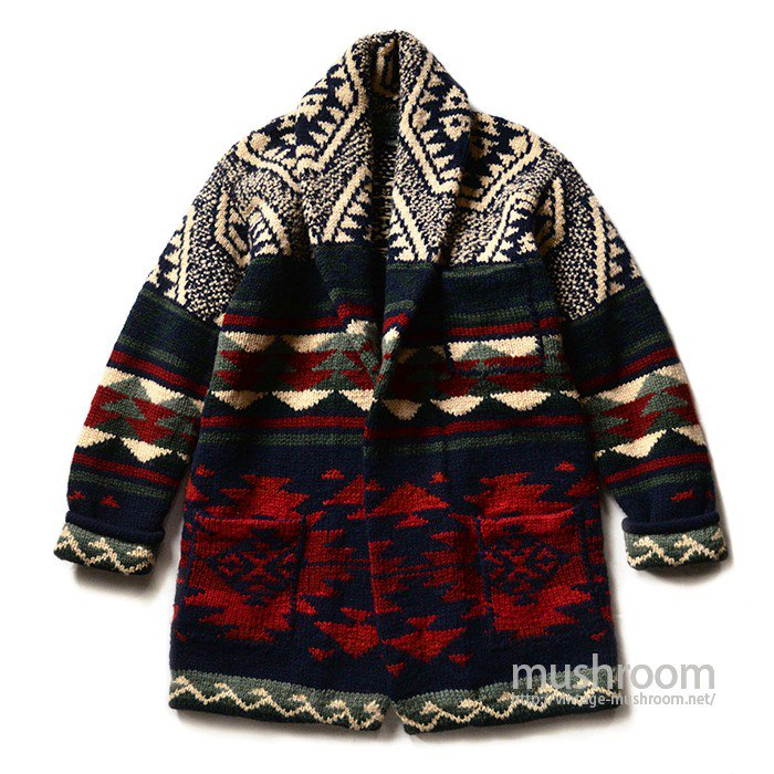 RALPH LAUREN COUNTRY NATIVE HAND-KNIT CARDIGAN( MINT )