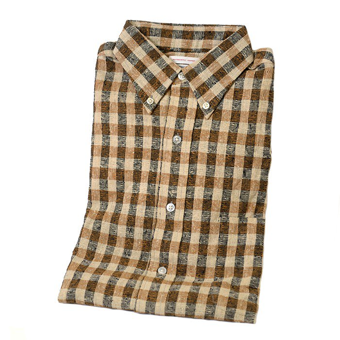 MARSHALL&COMPANY PLAID COTTON BD SHIRT( DEADSTOCK )