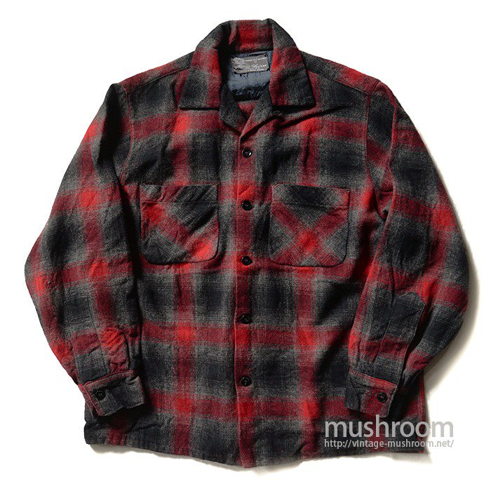 MERRILL WOOLENS SHADOW CHECK WOOL SHIRT