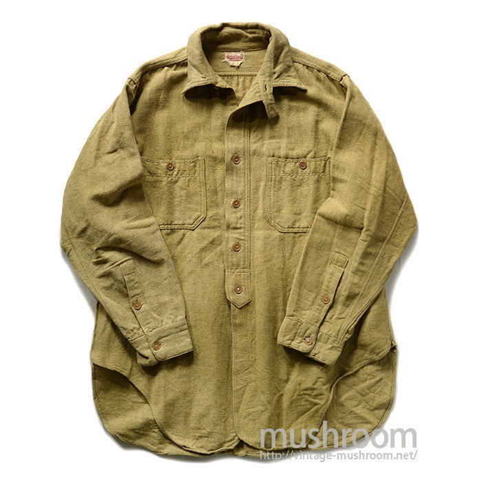 AUTO BRAND WOOL WORK SHIRT WITH CHINTTRAP